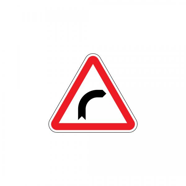 A1A - Curva à direita - Sinais de Perigo