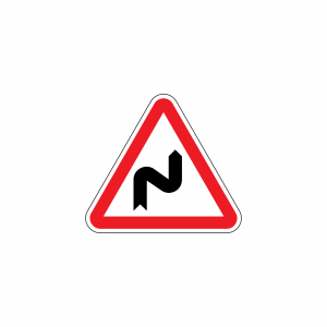 A1C - Curva à direita e contracurva - Sinais de Perigo
