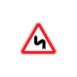 A1D - Curva à esquerda e contracurva - Sinais de Perigo