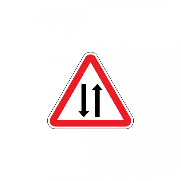 A25 - Trânsito nos dois sentidos - Sinais de Perigo