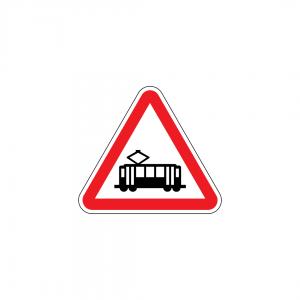A28 - Interseção com via onde circulam veículos sobre carris - Sinais de Perigo