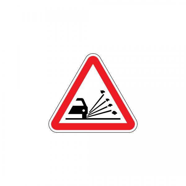 A6 - Projeção de gravilha - Sinais de Perigo