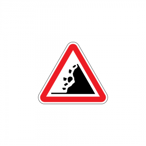 A9 - Queda de pedras - Sinais de Perigo