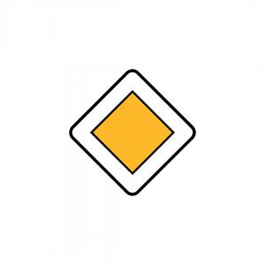 B3 - Via com prioridade - Sinais de Cedência de Passagem