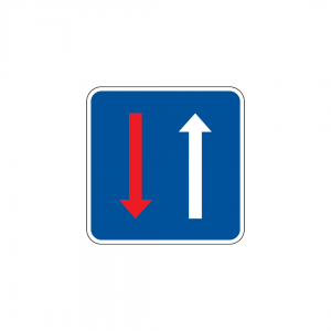 B6 - Prioridade nos estreitamentos da faixa de rodagem - Sinais de Cedência de Passagem