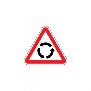 B7 - Aproximação de rotunda - Sinais de Cedência de Passagem