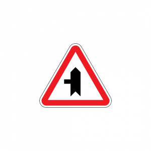 B9A - Entroncamento com via sem prioridade - Sinais de Cedência de Passagem