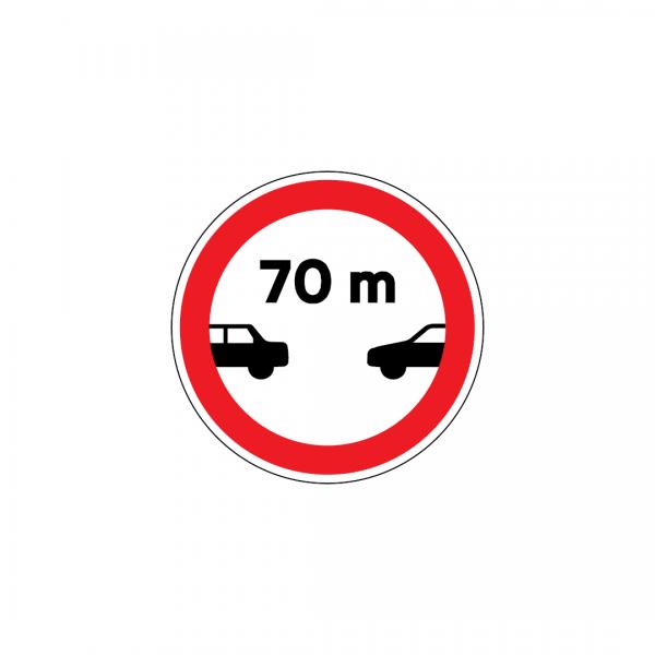 C10 - Proibição de transitar a menos de … m do veículo precedente - Sinais de Proibição