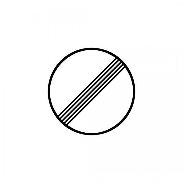 C20A - Fim de todas as proibições impostas anteriormente por sinalização a veículos em marcha - Sinais de Proibição
