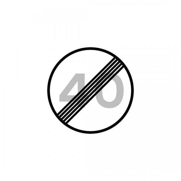 C20B - Fim da limitação de velocidade - Sinais de Proibição