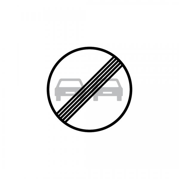 C20C - Fim da proibição de ultrapassar - Sinais de Proibição