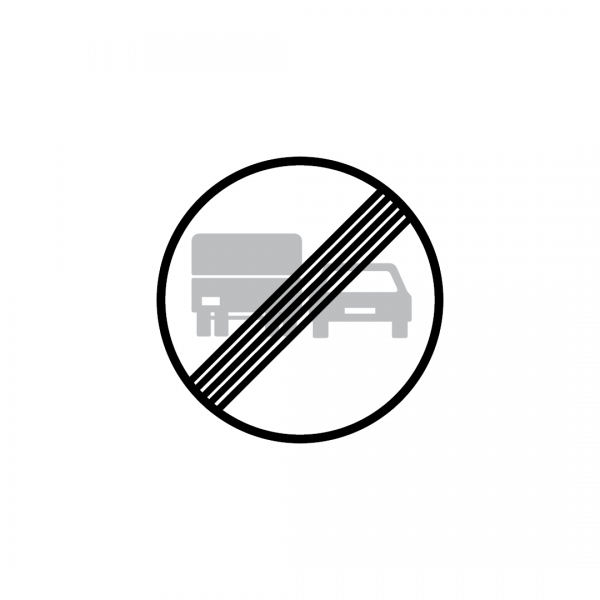 C20D - Fim da proibição de ultrapassar para automóveis pesados - Sinais de Proibição