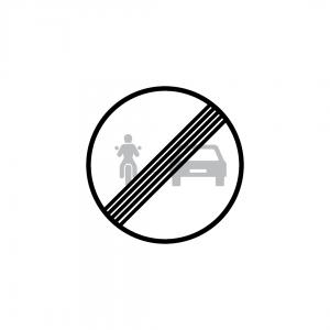 C20E - Fim da proibição de ultrapassar para motociclos e ciclomotores - Sinais de Proibição