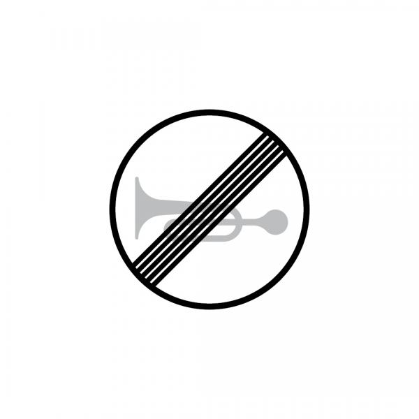 C22 - Fim da proibição de sinais sonoros - Sinais de Proibição