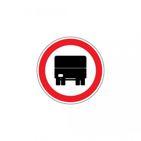 C3B - Trânsito proibido a automóveis pesados - Sinais de Proibição