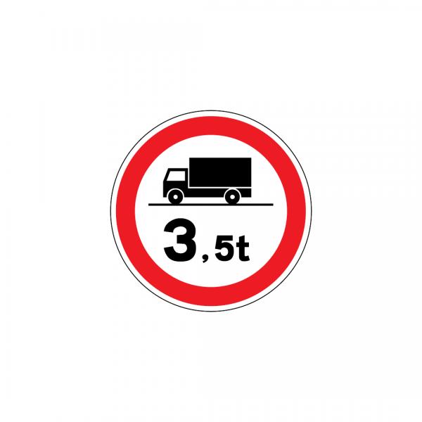 C3D - Trânsito proibido a automóveis de mercadorias de peso total superior a …t - Sinais de Proibição