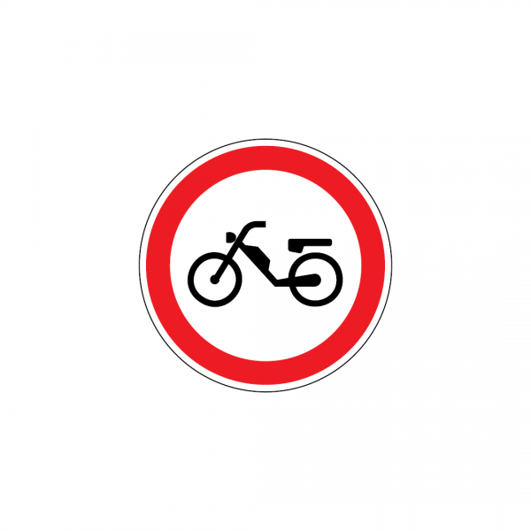 C3F - Trânsito proibido a ciclomotores - Sinais de Proibição