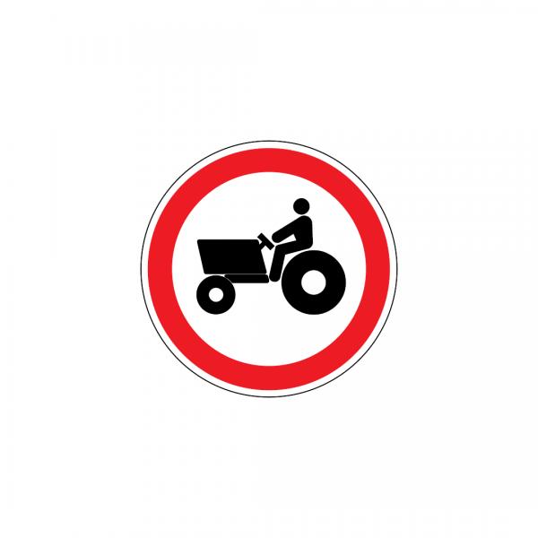 C3H - Trânsito proibido a veículos agrícolas - Sinais de Proibição