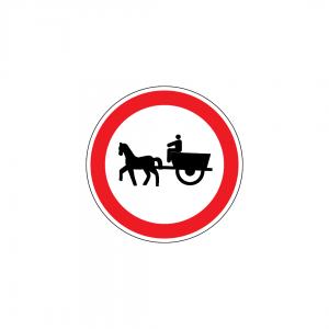 C3I - Trânsito proibido a veículos de tração animal - Sinais de Proibição