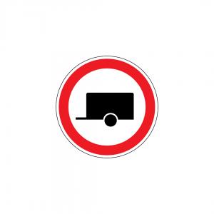 C3N - Trânsito proibido a veículos com reboque - Sinais de Proibição