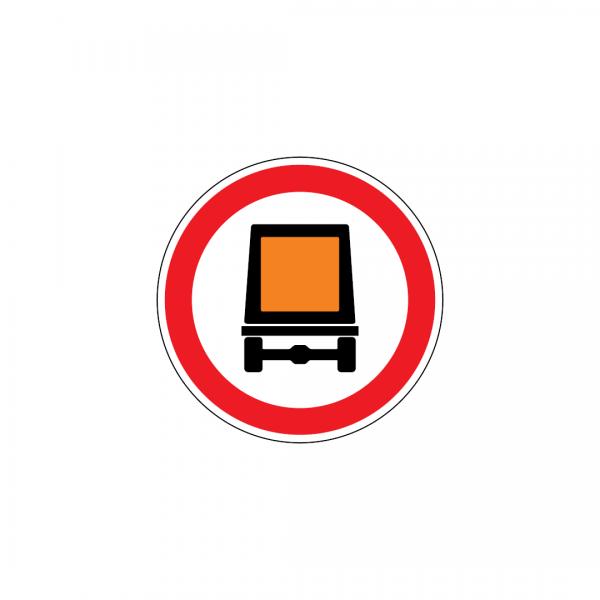 C3P - Trânsito proibido a veículos transportando mercadorias perigosas - Sinais de Proibição