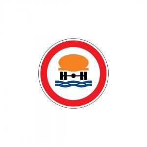 C3R - Trânsito proibido a veículos transportando produtos susceptíveis de poluirem as águas - Sinais de Proibição