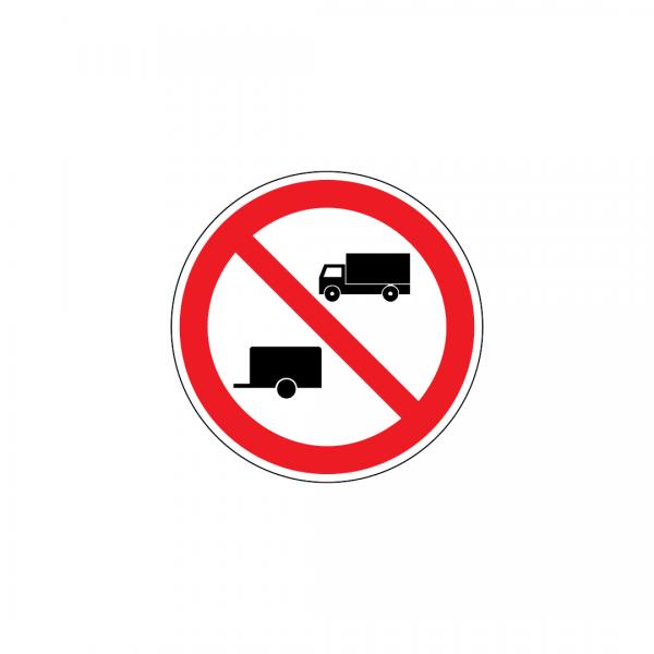 C4B - Trânsito proibido a automóveis de mercadorias e veículos a motor com reboque - Sinais de Proibição