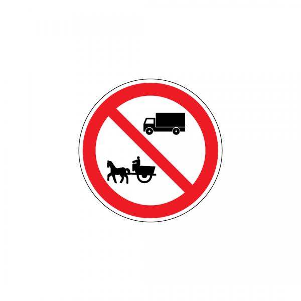 C4D - Trânsito proibido a automóveis de mercadorias e a veículos de tração animal - Sinais de Proibição