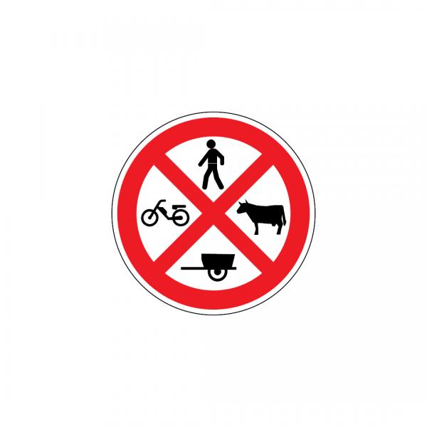 C4E - Trânsito proibido a peões, a animais e a veículos que não sejam automóveis ou motociclos - Sinais de Proibição
