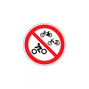 C4F - Trânsito proibido a veículos de duas rodas - Sinais de Proibição