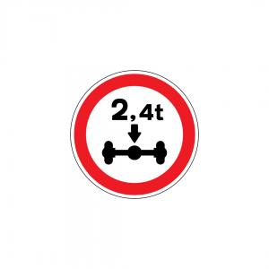 C5 - Trânsito proibido a veículos de peso por eixo superior a … t - Sinais de Proibição
