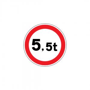 C6 - Trânsito proibido a veículos de peso total superior a … t - Sinais de Proibição