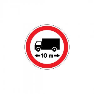 C7 - Trânsito proibido a veículos ou conjunto de veículos de comprimento superior a … m - Sinais de Proibição