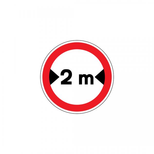 C8 - Trânsito proibido a veículos de largura superior a … m - Sinais de Proibição