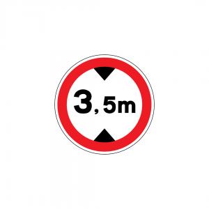 C9 - Trânsito proibido a veículos de altura superior a … m - Sinais de Proibição