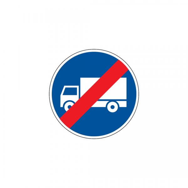D11A - Fim da via obrigatória para automóveis de mercadorias - Sinais de Obrigação