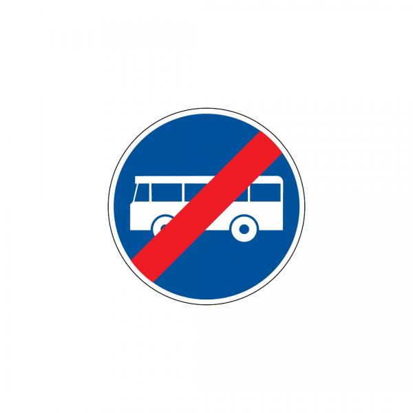D12 - Fim da via reservada a veículos de transporte público - Sinais de Obrigação