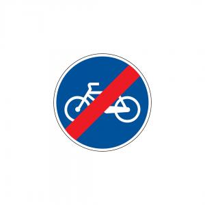 D13A - Fim da pista obrigatória para velocípedes - Sinais de Obrigação