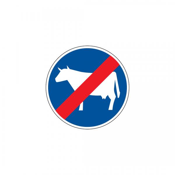 D13D - Fim da pista obrigatória para gado em manada - Sinais de Obrigação
