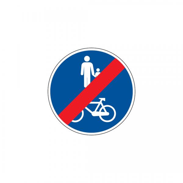 D13E - Fim da pista obrigatória para peões e velocípedes - Sinais de Obrigação