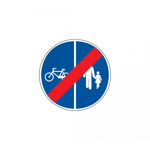 D13F - Fim da pista obrigatória para peões e velocípedes - Sinais de Obrigação