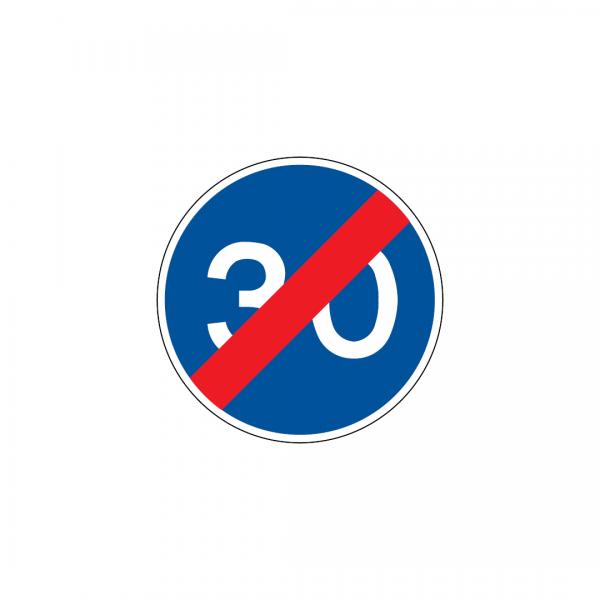 D14 - Fim da obrigação de transitar à velocidade mínima de … Quilómetros por hora - Sinais de Obrigação