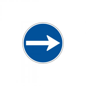 D1A - Sentido obrigatório - Sinais de Obrigação