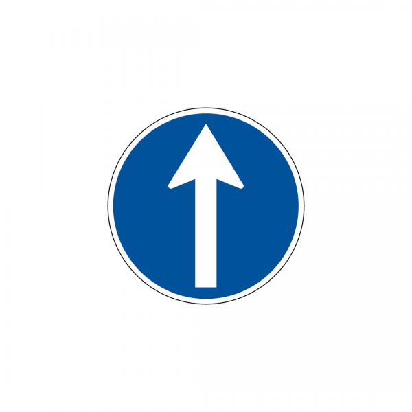 D1C - Sentido obrigatório - Sinais de Obrigação
