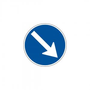 D3A - Obrigação de contornar placa ou obstáculo - Sinais de Obrigação