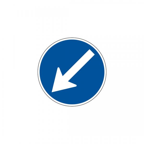 D3B - Obrigação de contornar placa ou obstáculo - Sinais de Obrigação