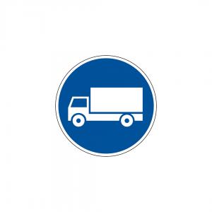 D5A - Via obrigatória para automóveis de mercadorias - Sinais de Obrigação