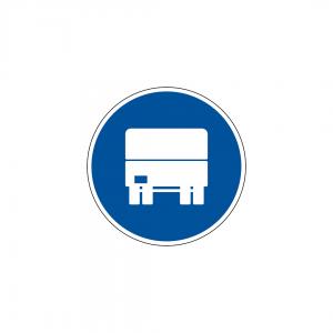 D5B - Via obrigatória para automóveis pesados - Sinais de Obrigação