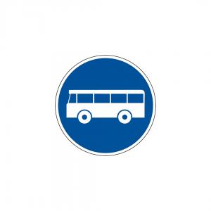 D6 - Via reservada a veículos de transporte público - Sinais de Obrigação