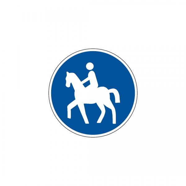 D7C - Pista obrigatória para cavaleiros - Sinais de Obrigação